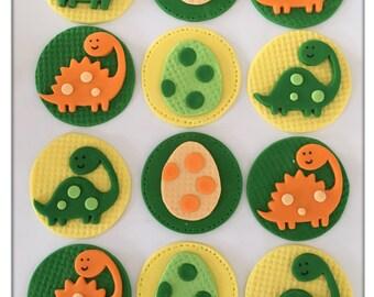 Set of 12 Dinosaur Cupcake Toppers