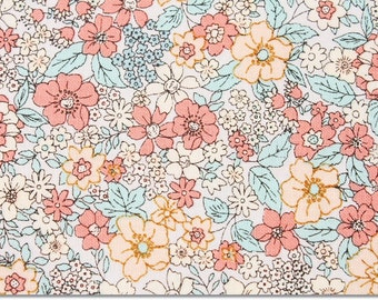 Floral patterned Fabric, Flower Fabric made in Korea by the Yard