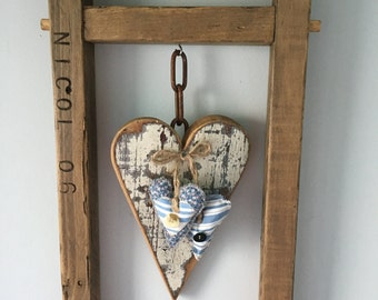 Wooden Framed Heart
