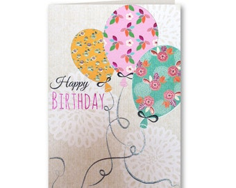 Happy Birthday - Birthday Card - Birthday Greeting Card - Balloons
