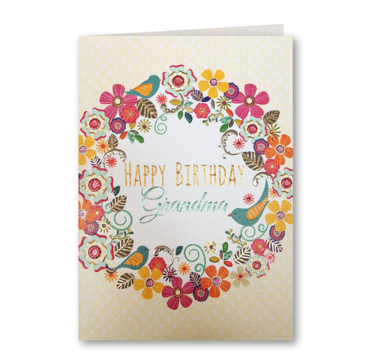 Happy Birthday Grandma Birthday Card Grandma Grandma
