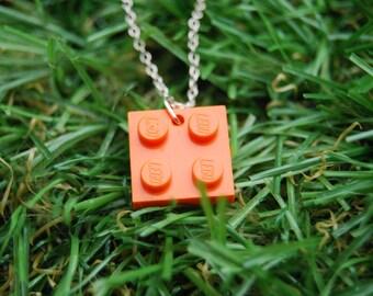 Orange Brick Flat 2x2