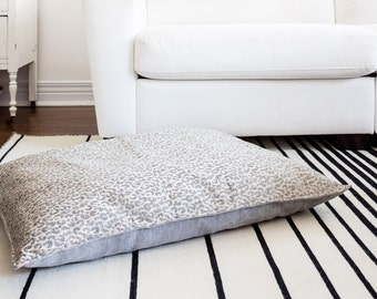 Animal Print Fully Washable, Hypoallergenic Dog Bed, 26x36, 3 Colours designed by Jo Alcorn