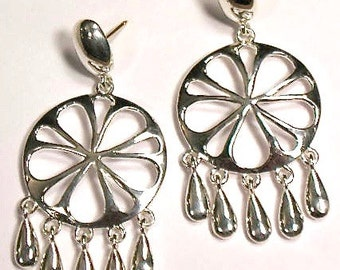 Sterling Silver Chandelier Dangle earrings