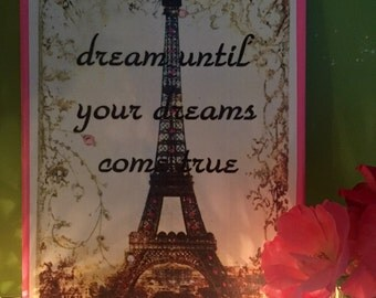 Eiffel Tower Dream Until Your Dreams Come True Canvas