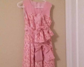 Childrens dress with matching doll dress