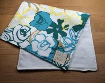 Floral Burp Cloths