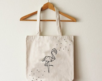 Tote bag Flamingo Pink organic cotton