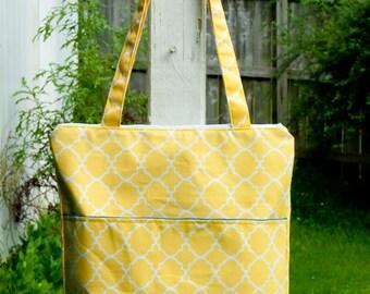 Yellow Canvas Shoulder Bag