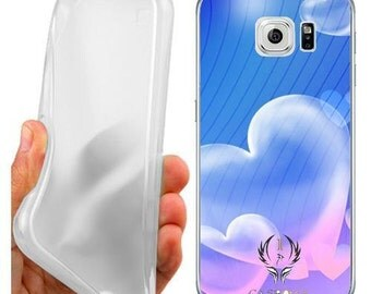 Case cover hearts for samsung galaxy s6 edge