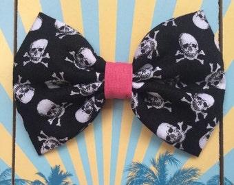 Rockabilly skull skull hairpin loop hair bow Halloween