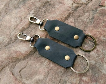Handmade Leather Keychain with High Quality Materials