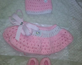 Baby girl crochet set