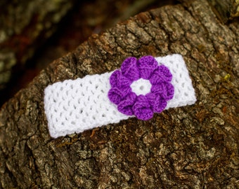 Baby Girl Headband, Crochet Headband