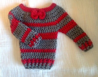 Newborn sweater with bow tie