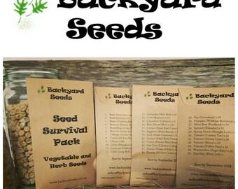 The Seed Survival Pack : 35 Varieties of Vegetable and Herb Seeds