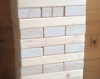 Giant Block Stacking Tower Game