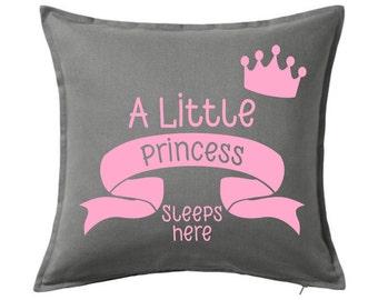 Baby Girl Pillow - Baby Nursery Pillow - Baby Gift - Baby Shower Gift - Black Pillow - Grey Pillow - Baby Room Decor - Throw Pillow