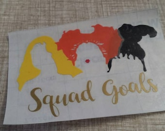 Hocus Pocus Mug Decal, Squad Goals Glass Decal, Squad Ghouls Decal