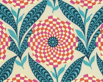 New! Amy Butler - Eternal Sunshine - Zebra Bloom - Linen - 100% Cotton Fabric by the Yard - You Choose Your Cut
