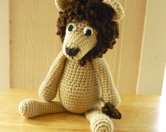 Custom Handmade Crochet Lion, stuff animal, crochet animal, Amigurumi