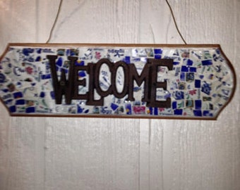 WELCOME Mosaic Sign