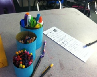 Recycled Can Pencil Holder