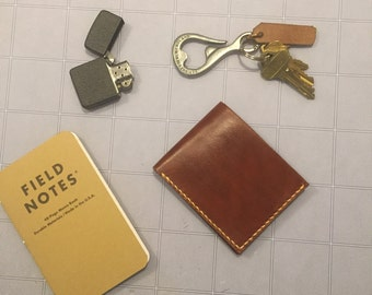 Hand Made Six Card Leather Wallet With Hidden Pockets
