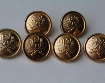 Rare! Set of 6 vintage Soviet Forester USSR buttons, Vintage Soviet military buttons, Soviet buttons, USSR buttons