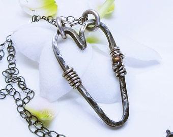 Sterling silver open heart
