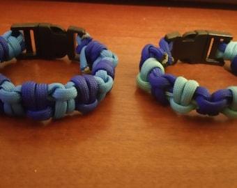 Sincerely Blue Half Hitch Paracord Bracelet (550)