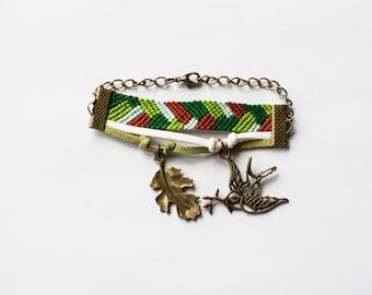 Forest freedom boho bracelet