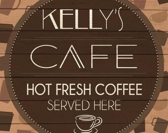 Custom Cafe Sign Digital Download