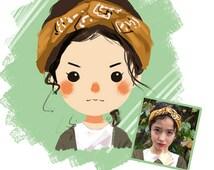 Customized Carton Self Portrait/ Profile picture for your Facebook/ Instagram/Youtube etc.