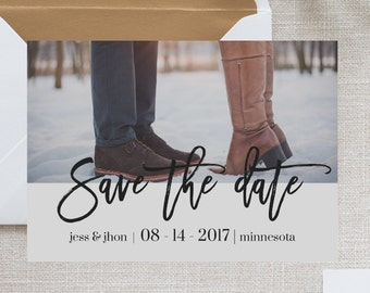 Save the date, printable save the date, save the date template, calligraphy save the date, postcard save the date, printable card, wedding