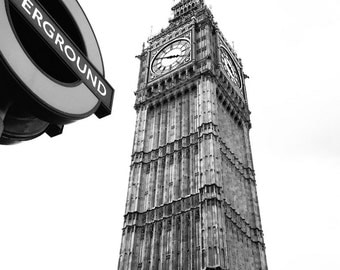 Big Ben + Underground | Instant Download | 14 x 14