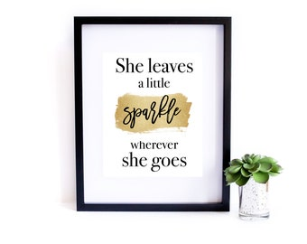 She Leaves A Sparkle