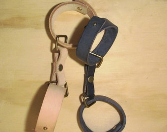 Handcrafted leather handcuffs/ankle restraint