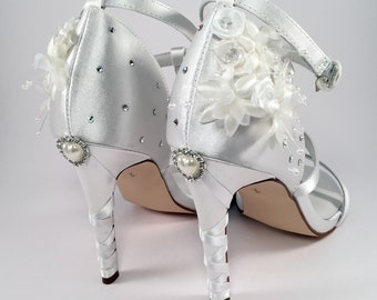 Custom Wedding Shoes with Swarovski Crystals - Hand Designed