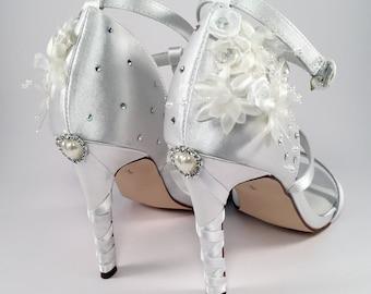 Custom Wedding Shoes with Swarovski Crystals - Hand Designed