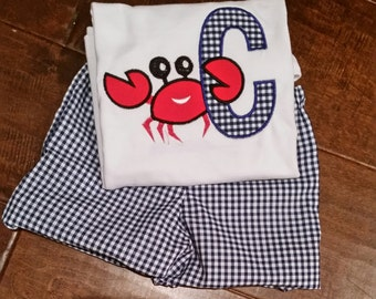 Inital Crab Applique