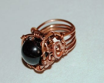 wire wrapped ring Tutorial -step by step wire-wrapping Tutorial - making jewelry Iinstructions- wire ring Tutorial - ring