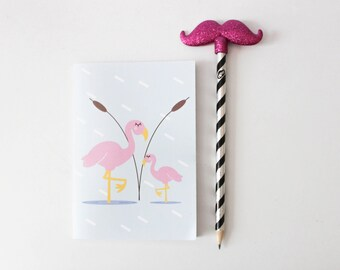 Flamingo made hand book / trend useful Flamingo correspondence notebook girly notes planner