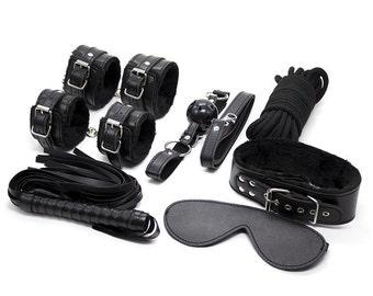 Handmade Leather Bondage Set Kit
