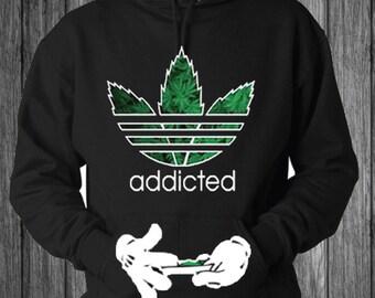 Addicted weed Hoodie