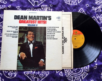 "Dean Martin - ""Greatest Hits Vol 2"" Vinyl LP, Record Album, Original 1968"