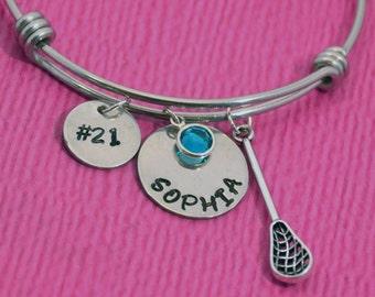 Lacrosse Bracelet   Lacrosse Gifts   Gift for Lacrosse Player   Lacrosse Gift for Girl   Lacrosse Charm   Lacrosse Jewelry   Personalized