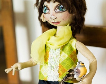 Handmade Doll textile by Yana Syrkina