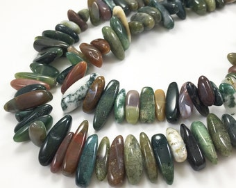 1Full Strand Indian Agate Top Drilled Gemstone,Indian Agate Stick Beads For Jewelry Making Approx 15-25mm