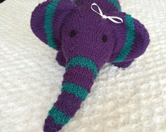 Ellie the Purple and Green Elephant